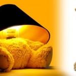 Lámpara Teddy, el osito de luz