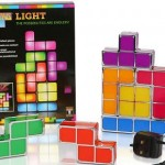 Lámpara Tetris, 7 bloques frikis
