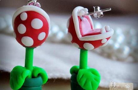 Pendientes Piraña de Súper Mario