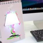 Lámpara de papel USB