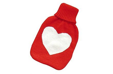 Bolsa de agua caliente con corazón