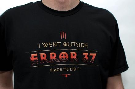 """Camiseta Diablo III """"Error 37"""""""