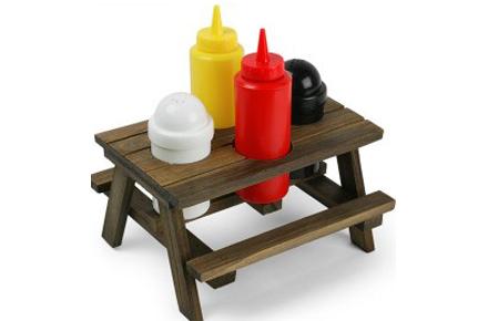 Mesa de Picnic para Condimentos