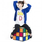 Puf con forma de Cubo de Rubik