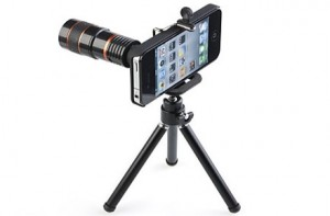 Trípode y Equipo Teleobjetivo para iPhone4 y 4S