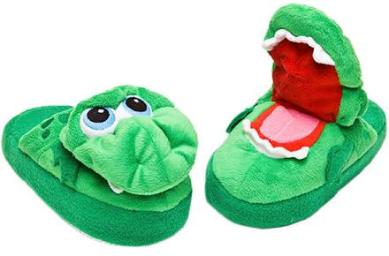 Zapatillas dragón con boca