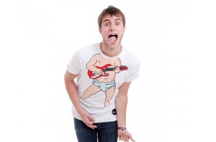 Camiseta bebé guitarrista