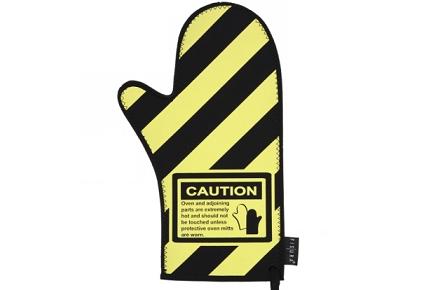 """Manopla de cocina """"Caution"""""""