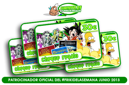 Nuevo sorteo de regalos frikis en nuestro #FrikiDeLaSemana de junio con Camiseto
