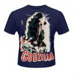 Camiseta póster retro Godzilla