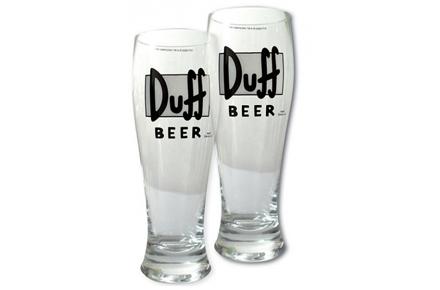Vasos gigantes de cerveza Duff