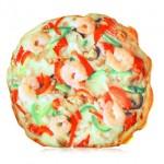 Almohada con forma de pizza