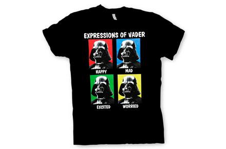 Camiseta expresiones de Darth Vader
