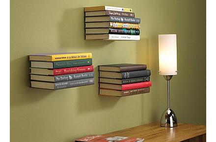 "Estantería invisible ""Floating Books"""