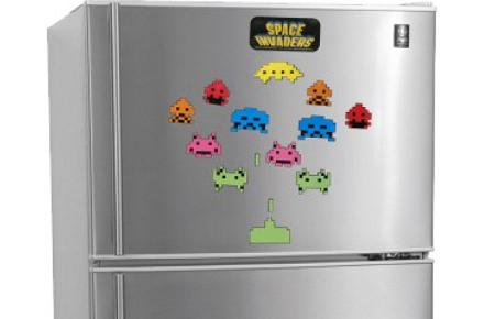 Imanes para la nevera de Space Invaders