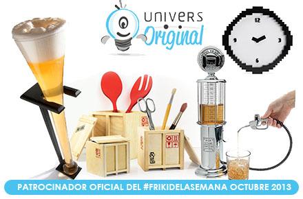 Nuevos sorteos del #FrikiDeLaSemana con 4 regalos para octubre con UniversOriginal