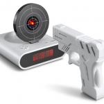Reloj despertador con diana láser