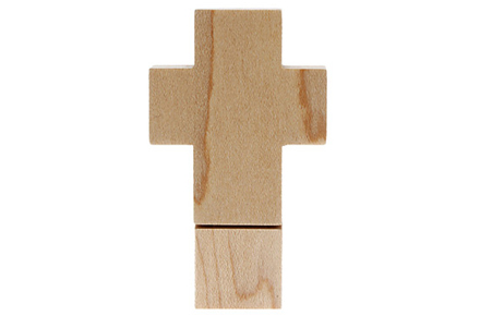 Pen drive con forma de cruz