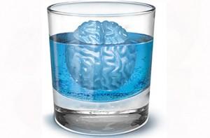 Molde para cubitos de hielo con forma de cerebros