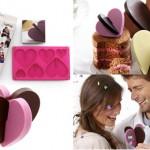 Moldes de silicona con forma de corazón