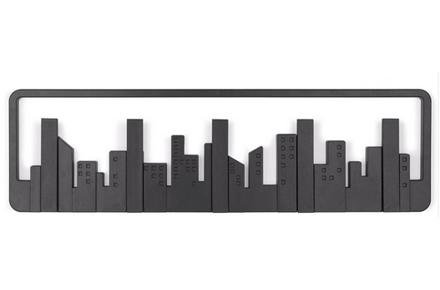 Perchero con el diseño del skyline Newyorkino
