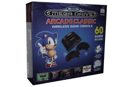 Consola Retro: Sega Mega Drive con 60 cartuchos originales