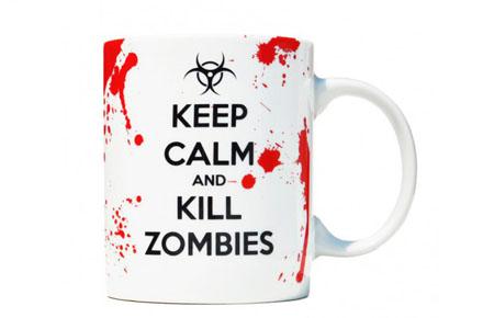 """Taza """"Keep calm and kill zombies"""""""