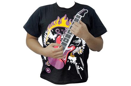 Camiseta con guitarra