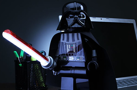 Lámpara LEGO Darth Vader
