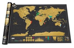 Mapamundi para rascar edición deluxe