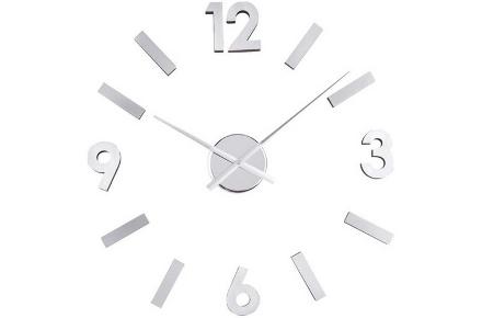 Reloj adhesivo de pared con diseño original en aluminio