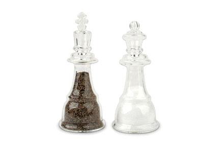 Salero y pimentero piezas de ajedrez