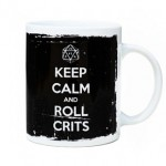 "Taza ""KEEP CALM & ROLL CRITS"""