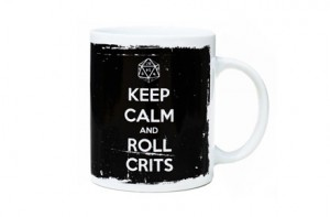 "Taza ""Keep calm & roll crits"""