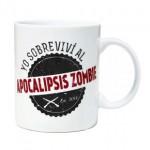 "Taza ""Yo sobreviví al apocalípsis zombie"""