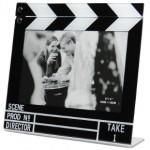 Marco de fotos con forma de claqueta de cine
