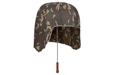 Paraguas con forma de casco camuflaje