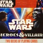 "Set de 2 barajas de póquer de Star Wars ""Héroes vs Villanos"""