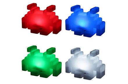 Lámparas Space Invaders
