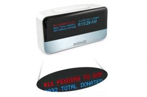Despertador wifi con donaciones