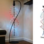 Lámpara con forma de cadena ADN