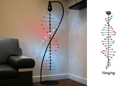 Lámpara con forma de código genético