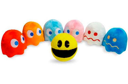 Pack de peluches Pac-man