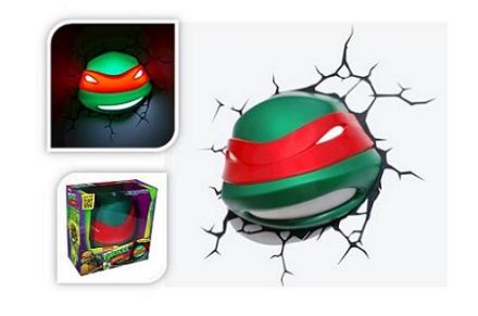 Lámparas 3D de las Tortugas Ninja