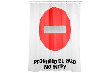 """Cortina de ducha """"Prohibido el paso"""""""