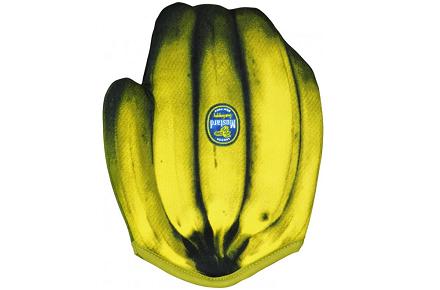 Guante con forma de plátanos