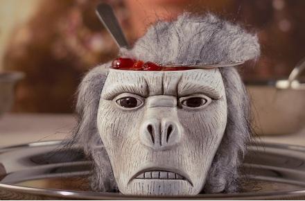 Sorbete de sesos de mono