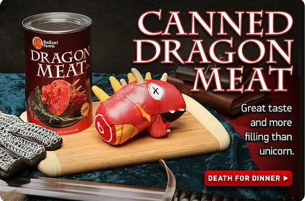Lata con carne de dragón