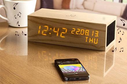 Reloj Music de madera