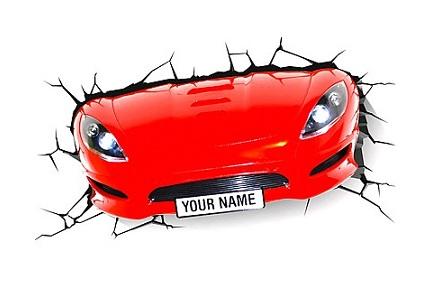 Luz quitamiedos 3D Decolights coche deportivo
